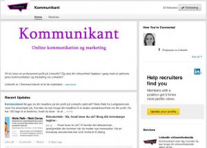 Kommunikants virksomhedsside